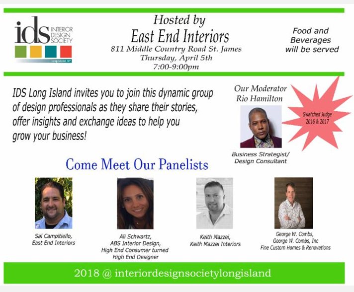 IDS Panel Hosted by East End Interiors